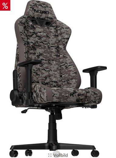 Bild zu Nitro Concepts S300 Urban Camo Gaming Stuhl für 220,76€ inkl. Versand (Vergleich: 259,90€)