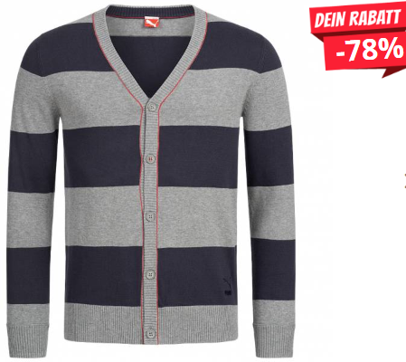 Bild zu SportSpar: PUMA Knit Varsity Cardigan Herren Strickjacke für 13,94€ inkl. Versand (Vergleich: 16€)