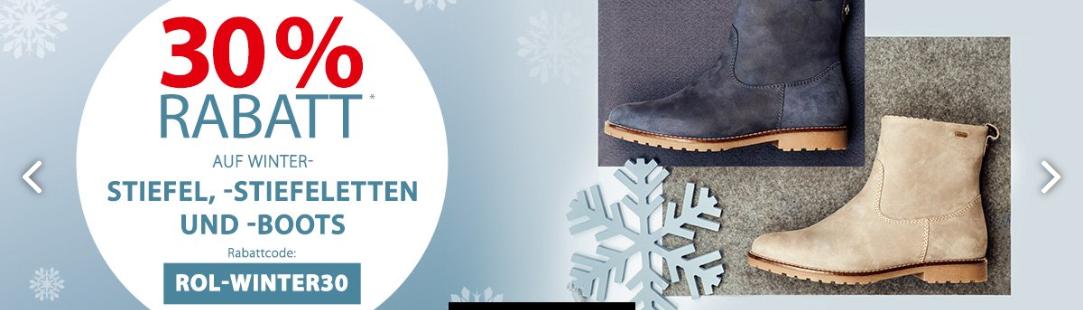 Roland Schuhe: 30% Rabatt auf alle nicht reduzierten Winter