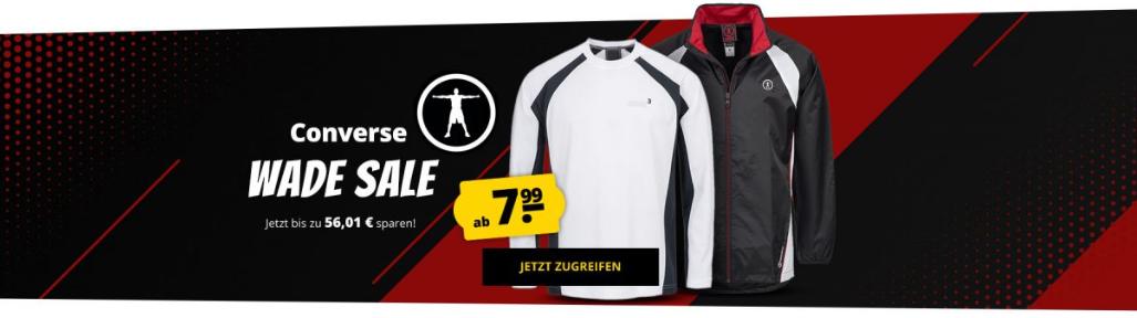 Bild zu SportSpar – Converse Sale mit bis zu 85% Rabatt, z.B. Converse Dwyane Wade Woven Wind Runner für 13,94€ inkl. Versand (Vergleich: 39€)