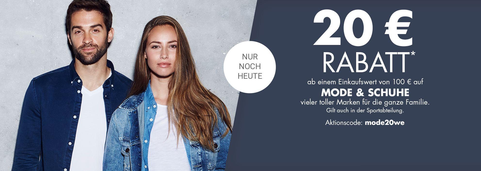 Bild zu Galeria Kaufhof Sonntags-Angebot: 20€ Rabatt auf einen Einkauf bei Mode und Schuhe (inkl. Wäsche) ab einem Einkaufswert von 100€
