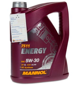 Bild zu MANNOL 5 Liter SAE 5W-30 ENERGY Motoröl für 14,49€ inkl. Versand (Vergleich: 20€)