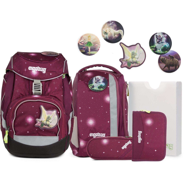 Bild zu 5-teiliges Ergobag Schulranzen Set FeenzauBär Glow inklusive Klettie-Set 40 für 189€ (Vergleich: 249€)