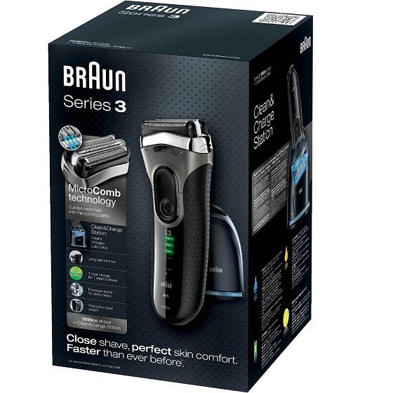 Bild zu Braun Series 3 3090cc Wet&Dry Rasierer mit Reinigungsstation für 79,90€ (Vergleich: 89,75€)