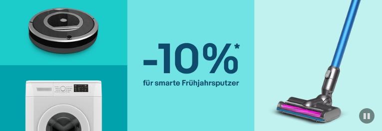Bild zu eBay: 10% Rabatt auf ausgewählte Haushaltsgeräte & Gaming Artikel
