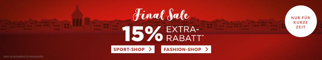 Bild zu Engelhorn: Final Sale mit 15% Extra-Rabatt