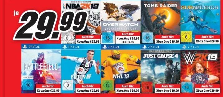 Bild zu MediaMarkt: Spiele für Playstation 4, Xbox One & PC, z.B. Red Dead Redemption 2 für 39,99€ (Vergleich: 43,99€)