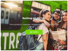 Bild zu Flixtrain: 50% Rabatt auf alle Flixtrain Fahrten an einem Dienstag, Mittwoch oder Donnerstag