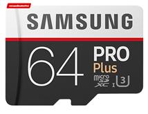 Bild zu Samsung Pro Plus (2017) microSDXC 64GB Speicherkarte für 25€ (Vergleich: 33,98€)