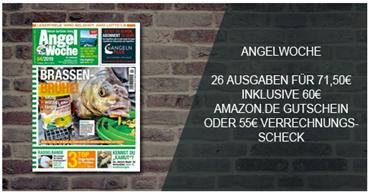 """Bild zu 26 Ausgaben der Zeitschrift """"Angelwoche"""" für 71,50€ + 60€ Amazon.de Gutschein als Prämie"""