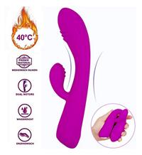 Bild zu G-Punkt Vibrator mit Klitoris Stimulation (beheizbar) für 12,76€