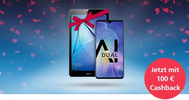 Bild zu Huawei Mate 20 (128 GB) für 1€ + gratis Huawei MediaPad T5 10.0 + 100€ zurück im o2 Free M (10 GB mit 225 MBit/s LTE) für 36,99€/Monat