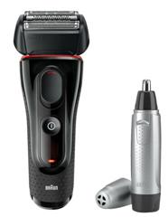 Bild zu Braun Series 5-5030s Akkurasierer + Braun EN 10 Ohr- und Nasenhaartrimmer für 58,41€ (Vergleich: 68,98€)