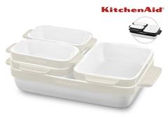 Bild zu KitchenAid Keramik Auflaufformen Set 5-teilig für je 58,90€ (Vergleich: 99€)