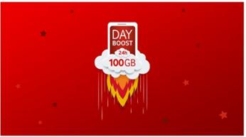 Bild zu Vodafone: die nächsten 6 Monate jeweils 1 x pro Monat für 24 Stunden 100GB Datenvolumen kostenlos