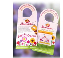Bild zu Türanhänger mit Saatmischung für Bienen kostenlos anfordern