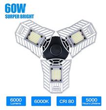 Verstellbare Trilights Garagen Deckenleuchte 60w 80w 6000