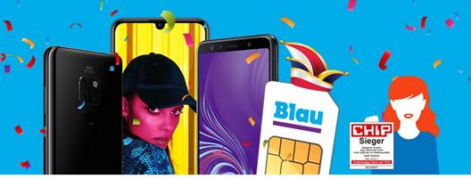 Bild zu [Top] verschiedene Smartphones ab 4,95€ im Blau Allnet L (3GB LTE Datenflat, SMS und Sprachflat) für 14,99€/Monat