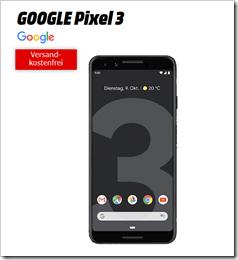Bild zu Google Pixel 3 für einmalig 29€ (Vergleich: 600,99€) mit Vodafone Smart Surf (2GB, 50 Minuten + 50 SMS) für 16,99€/Monat = 476,75€ Gesamtkosten