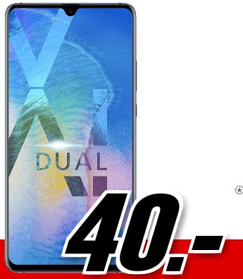 Bild zu [vorbei] Huawei Mate20 X 128 GB (einmalig 40€) inkl. Flat Allnet Plus Tarif (4GB Datenvolumen bis zu 42,2 Mbit/s, Allnet-Flat) für 26,99€/Monat