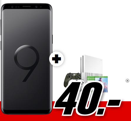 Bild zu [TOP] Samsung Galaxy S9+ Dual-SIM + XBOX ONE S 1TB Sparket mit über 100 Spielen (einmalig 40€) inkl. Flat Allnet Plus Tarif (2GB Datenvolumen bis zu 42,2 Mbit/s, Allnet-Flat) für 26,99€/Monat