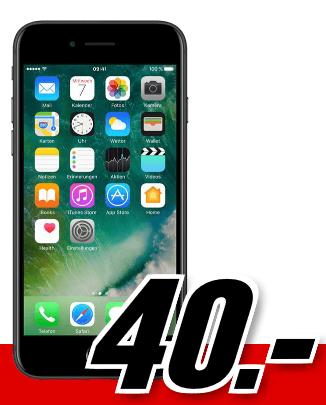 Bild zu Apple iPhone 7 (einmalig 40€) inkl. Smart Surf Tarif (2 GB Datenvolumen, 50 Freiminuten + 50 SMS) für 16,99€/Monat
