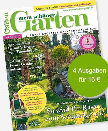 """Bild zu 4 Ausgaben der Zeitschrift """"Mein schöner Garten"""" für 16€ + Esschert Design Gießkanne (Vergleich: 19,95€) oder 10€ Verrechnungsscheck"""