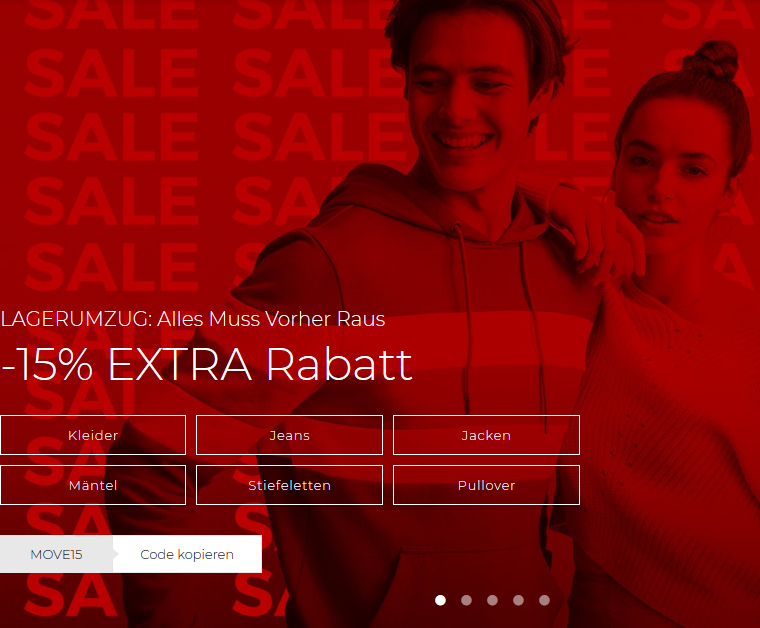 Bild zu About You Lagerumzug: 15% Extra-Rabatt auf fast alles (kein MBW) + kostenloser Versand & Rückversand