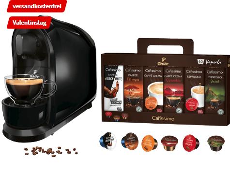 Bild zu TCHIBO CAFISSIMO Cafissimo Pure + 60 Kapseln (Espresso, Tee, Filterkaffee, Caffè Crema) Kapselmaschine für 39€ inkl. Versand (Vergleich: 48,95€)