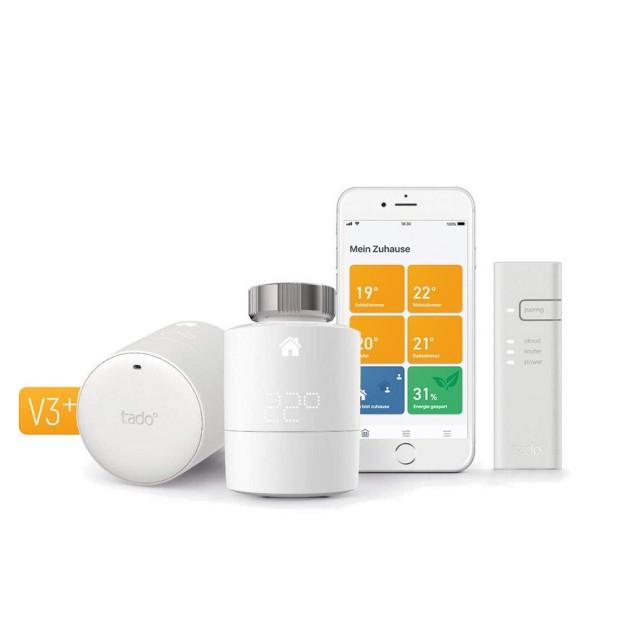 Bild zu Tink: 20% Rabatt auf alle Tadi Produkte, z. B. Tado Smartes Heizkörper-Thermostat Starter Kit V3+ mit zwei Thermostaten und Bridge für 127,96€ (Vergleich 170,95€)