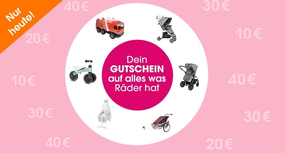 Bild zu babymarkt.de: Bis zu 40€ Rabatt auf alles was Räder hat (Abhängig vom Bestellwert)