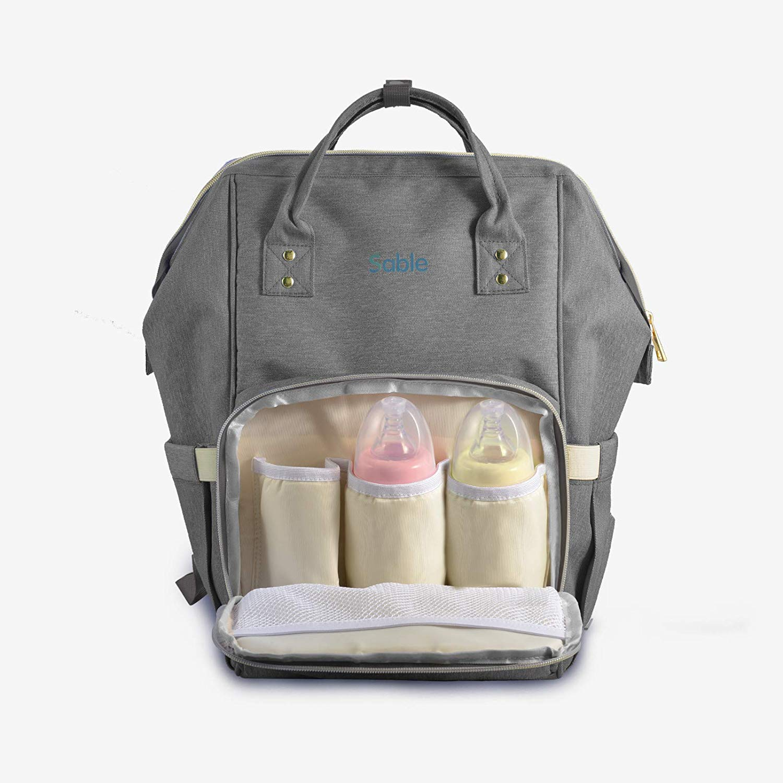 Bild zu Sable wasserfeste Multifunktions-Wickeltasche mit abnehmbarer Wechselunterlage für 17,99€