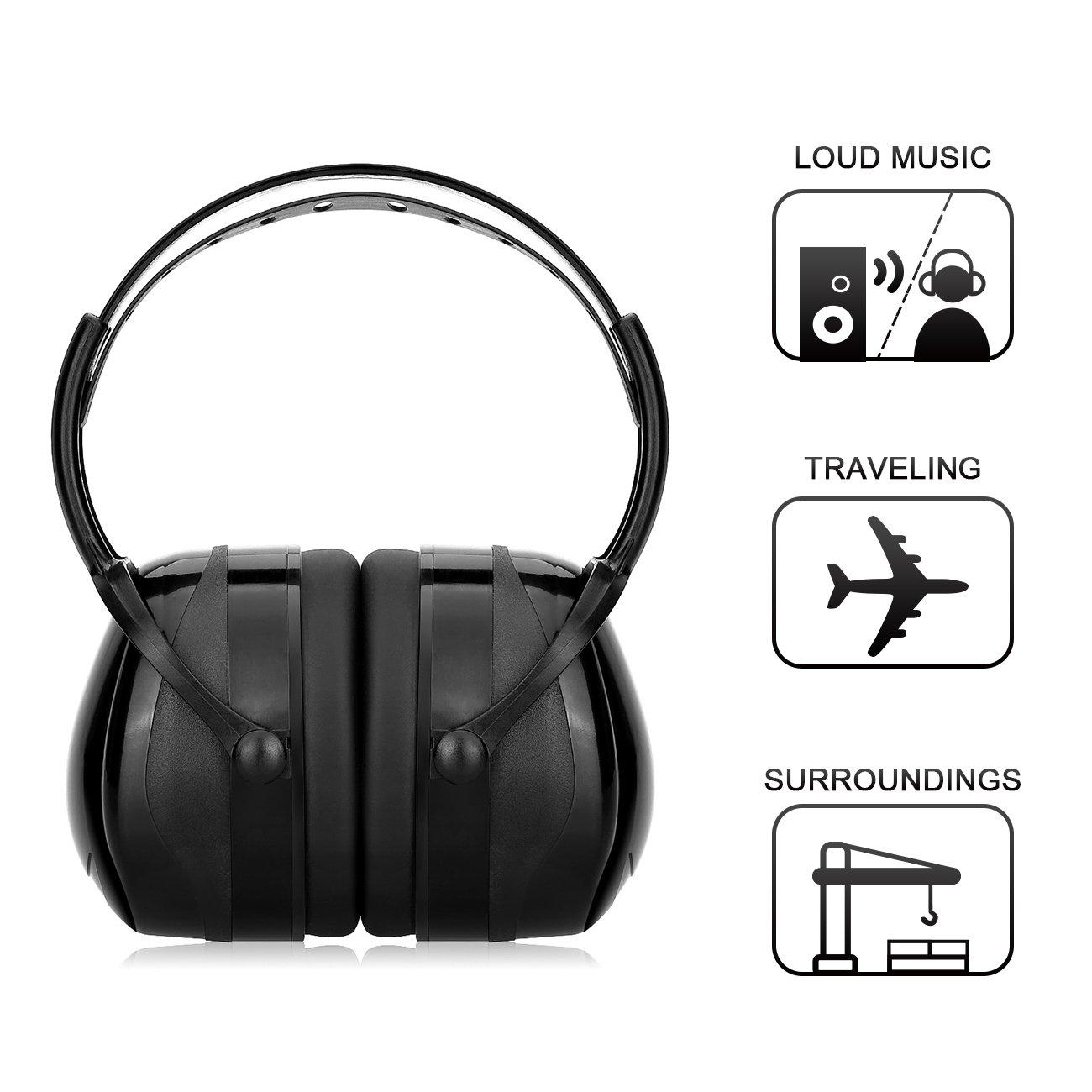 Bild zu Gehörschutz für Erwachsene mit verstellbarem Kopfbügel für 7,99€