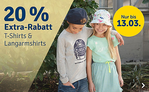 Bild zu myToys: 20% Rabatt auf T-Shirts und Langarmshirts