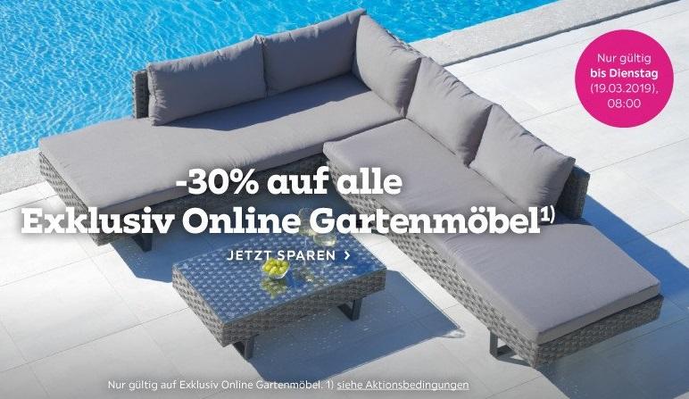 Bild zu Mömax: 30% Rabatt auf alle Exklusive Online Gartenmöbel