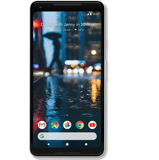 Bild zu [B-Ware] Google Pixel 2 XL 128 GB Schwarz-Weiß für 359,99€ (Vergleich: 499€)