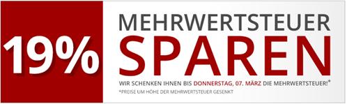Bild zu Druckerzubehör.de: 19% Mehrwertsteuer sparen + 3 gratis Artikel geschenkt