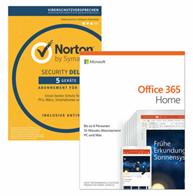 Bild zu Microsoft Office 365 Home 6 Nutzer 1 Jahr + NORTON Security Deluxe 5 Geräte für 73€ (Vergleich: 90,41€)