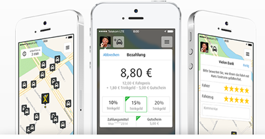 Bild zu 10€ Neukundengutschein bei MyTaxi.de oder nur heute 30% für Alle