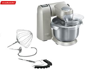 Bild zu BOSCH MUMX15TL MaxxiMUM Küchenmaschine Titaniumsilber 1600 Watt für 299€ (Vergleich: 399€)