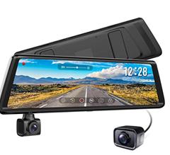 Bild zu AUTO-VOX A1 Dashcam/Autokamera mit 1080P Full HD Touchscreen Rückspiegel+ Rückfahrkamera für 91,49€