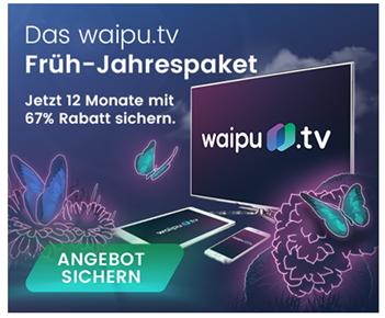 Bild zu [Top] 12 Monate Waipu TV Perfect für 3,30€/Monat anstatt 9,90€ (monatlich kündbar)