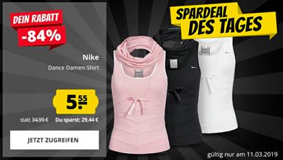 """Bild zu Nike Fit Dance """"Tanz Shirt"""" für 9,50€ (5,55€ zzgl. 3,95€ Versand)"""