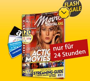 Bild zu TV Movie Digital XXL im Jahresabo (26 Ausgaben) für 57,14€ + bis zu 55€ Prämie (z.B. 50€ Amazon)
