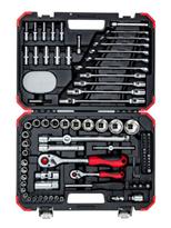 Bild zu CAROLUS 92-teiliger Steckschlüssel-Satz 1/4″ + 1/2″ Zoll für 72,55€ (Vergleich: 84,89€)
