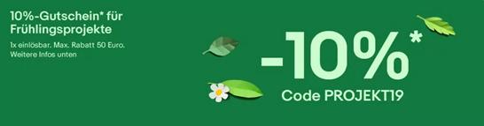 Bild zu eBay: 10% Rabatt auf Garten & Terrasse, Heimwerker, Auto- & Motorradteile, Business & Industrie