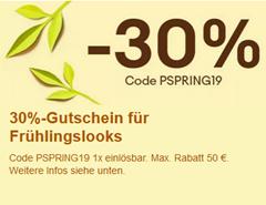 Bild zu eBay: 30% Rabatt auf ausgewählte Seller im Sortiment Fashion
