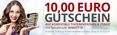 Bild zu Druckerzubehör: 5€ Rabatt auf kompatible Tintenpatronen & Toner (ab 9,95€ MBW) + zwei gratis Artikel