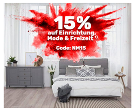 Bild zu Neckermann: 15% Extra-Rabatt auf Einrichtung, Mode und Freizeit