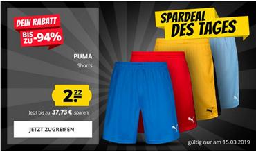 Bild zu Puma Herren Shorts in versch. Farben für je 2,22€ zzgl. 3,95€ Versand